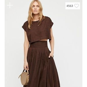 Free People Endless Summer Two-Piece Top Skirt NWT